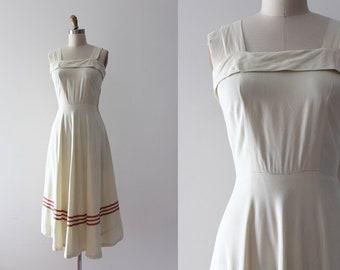 vintage 1940s dress // 40s day dress