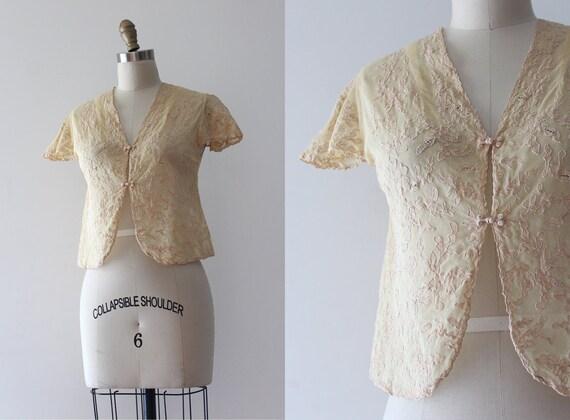 vintage 1930s blouse // 30s lace top