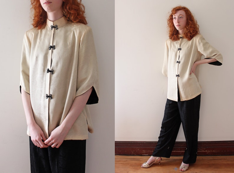 Vintage 1940s lounge set    40s 2 piece pajama set  02e4dc9a4