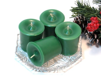 Votive candles 4 pack Evergreen scent