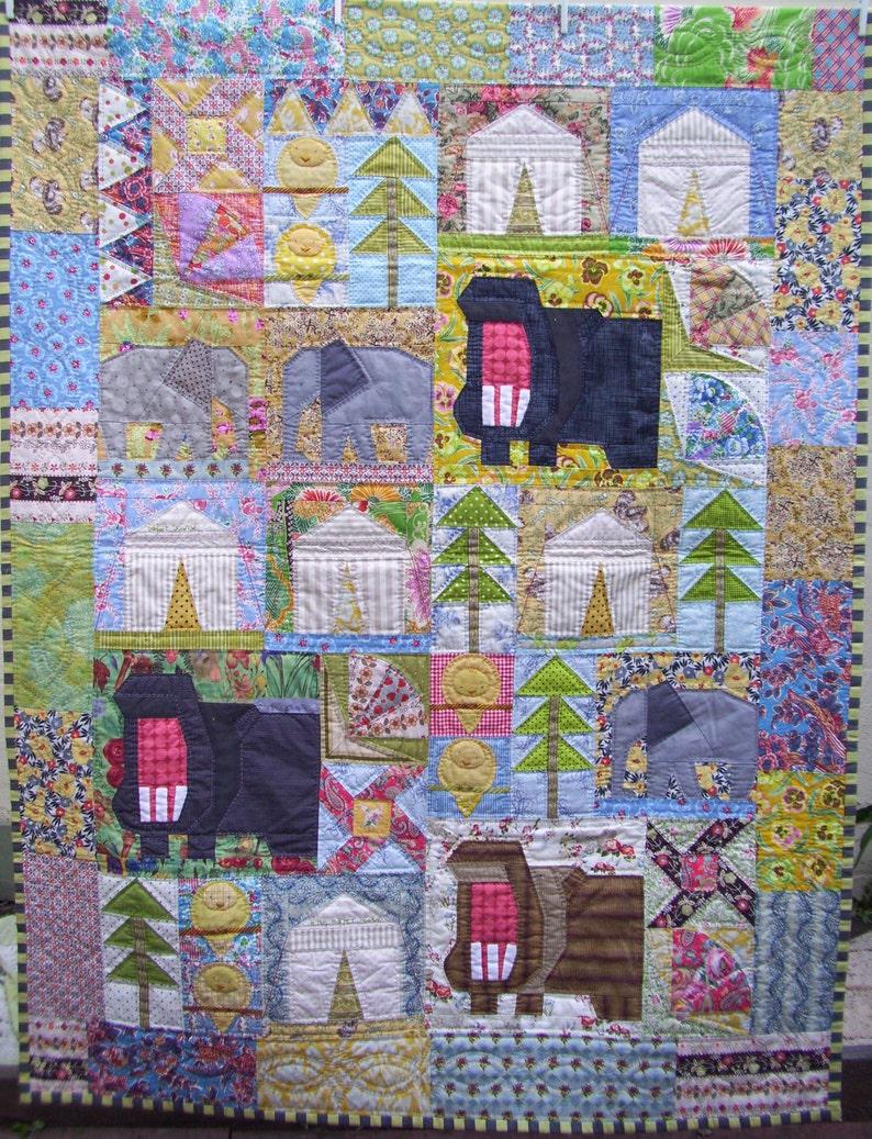 th /'Safari Sunrise/' quilt pattern by Trish Harper Designs