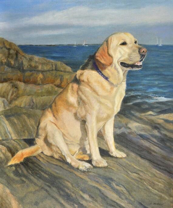 Yellow Labrador Retriever Art Yellow Lab Print Yellow Etsy