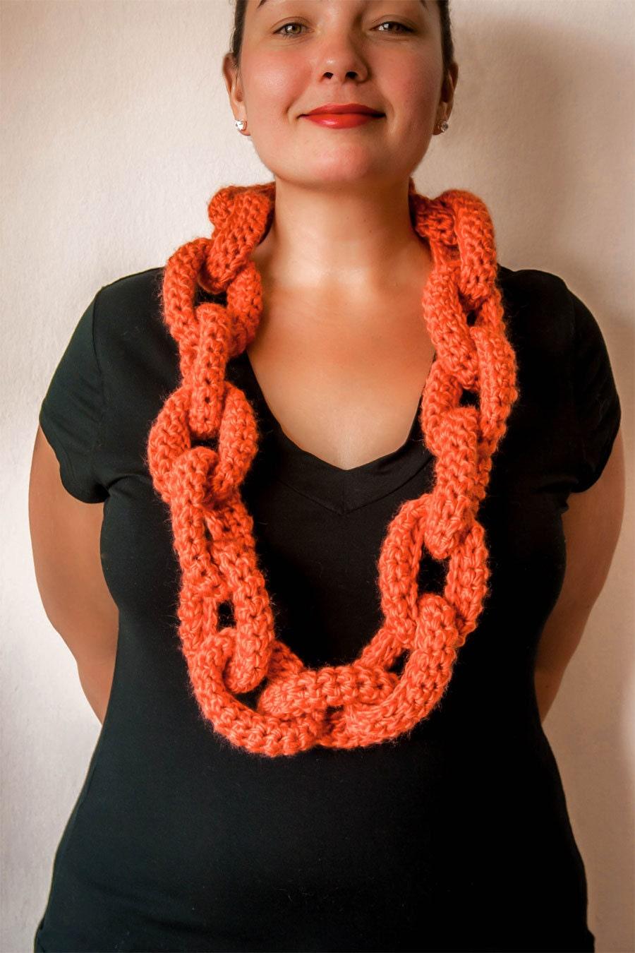 Chain Link Scarf Crochet Pattern - Crochet Scarf Pattern - Crochet ...