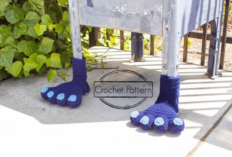 Monster Feet Yarn Bomb Crochet Pattern PDF Yarnbombing Street image 0
