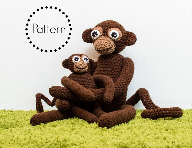 Crochet Monkey Pattern Amigurumi Monkey Pattern Crochet Toy image 0