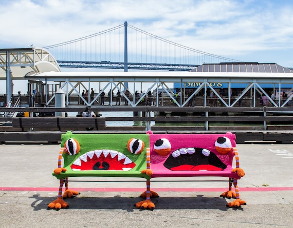 Remarkable Whimsical Monster Chair Colorful Kids Furniture Yarn Bombed Chair Accent Chair Kids Chair Knit Chair Wooden Chair Green Chair Theyellowbook Wood Chair Design Ideas Theyellowbookinfo