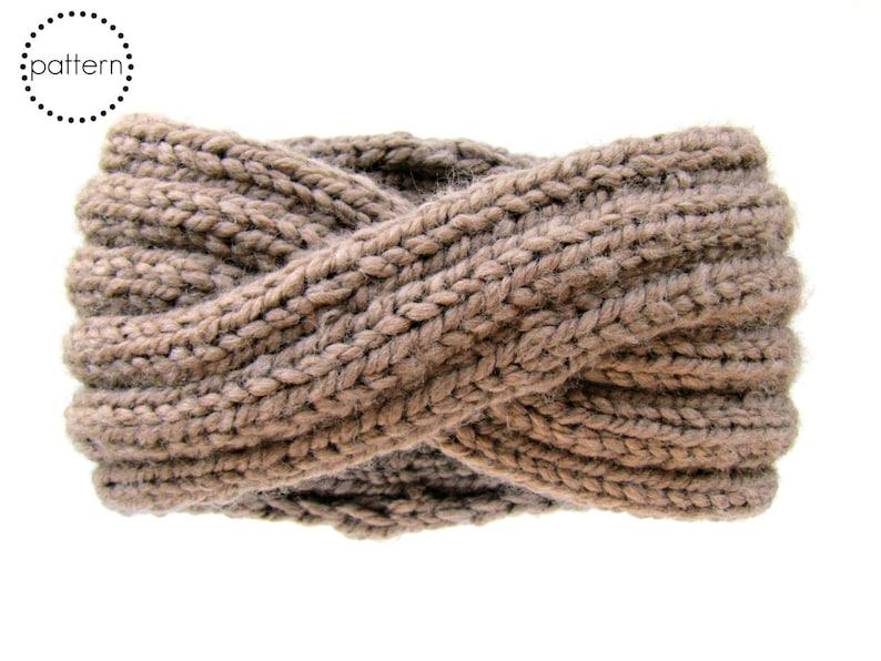 Infinity Headband Knitting Pattern  Ear Warmer Knitting image 0