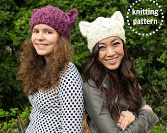 Pussyhat Pattern, Cat Hat Knitting Pattern, Cat Hat Pattern, Resist Pussyhat, Knitting Patterns for Women, Cat Ears, Cosplay
