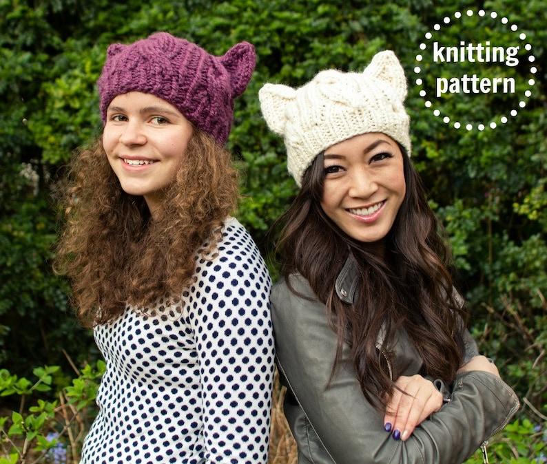 Pussyhat Pattern Cat Hat Knitting Pattern Cat Hat Pattern image 0