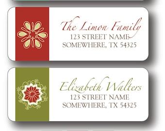Christmas Return Address Labels - Snowflake