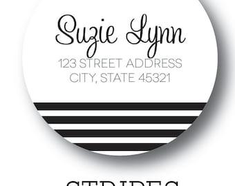 """Stripe Labels - 2"""" Circle"""