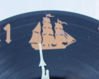 Kansas Point of No Return Vinyl Record Clock - Recycled from damaged album - Retro Music Home Decor - Music Room Decor