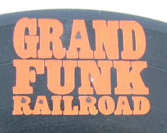 Grand Funk Vintage Vinyl Record Clock made for REAL album, not a reprint.