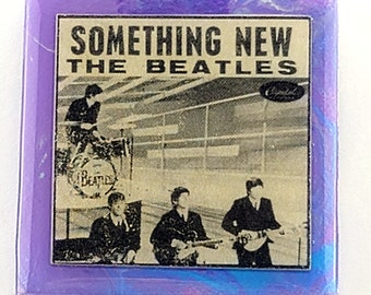 Beatles Something New Ceramic necklace made from AUTHENTIC album sleeve insert.