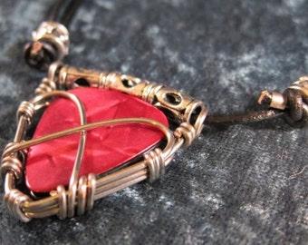Guitar Pick Holder - Necklace - Handmade Guitar Pick Holder