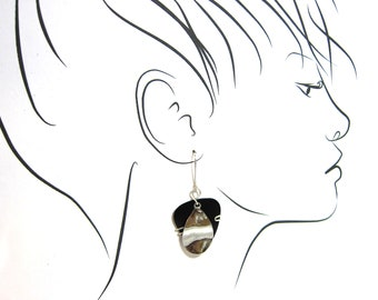 Guitar Pick Earrings with vintage elements