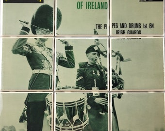 Celtic Music - The Pipes and Drums of Ireland  REAL Album Coaster - Tile Set - Irish Music