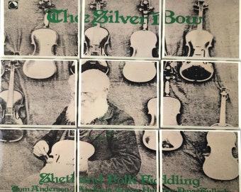 Celtic vinyl record coaster set - The Silver Bow - Shetland Folk Fiddling