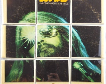 Leon Russell and The Shelter People Album Cover Coaster Tile Set for bar décor