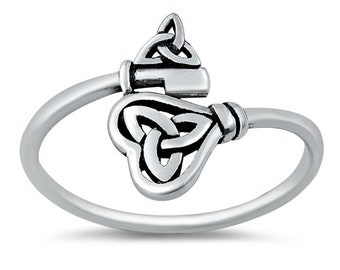 Celtic Key Wrap Around Ring made from Sterling Silver