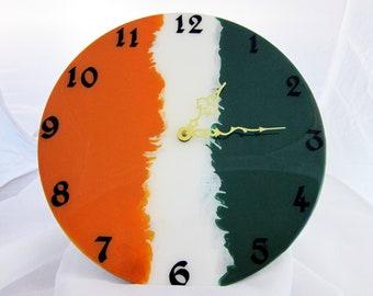 Irish Flag Vinyl Record Album Clock