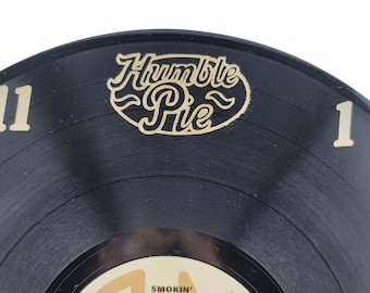 Humble Pie Recycled Vinyl Record Clock- Hand painted