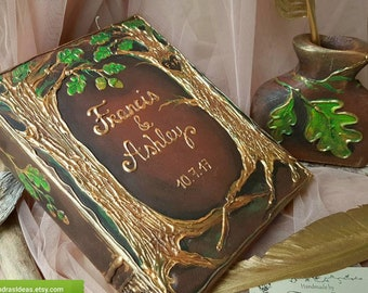 Fairytale wedding guest book, Personalized book, Once upon a time, forest wedding guest book, Rustic wedding, Fairy Tale Guest Book