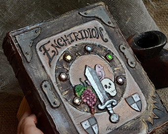 Enchiridion, Adventure Time, Animation Fan Art, custom book, Enchiridion book, handmade book,  alternative guest book, blank book, art book