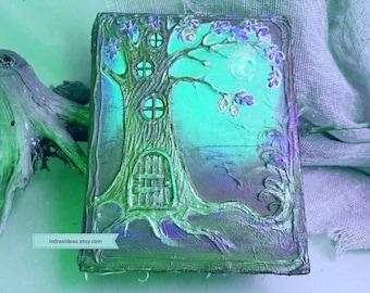Enhanced  forest wedding guest book, Sweet  sign book, Sweet birthday guest book,  Personalized book, fairy tale book