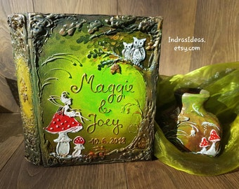 Enchanted forest guest book, Personalized book, Fairy tale wedding, Once Upon a Time, Rustic wedding, Fairy Tale Guest Book