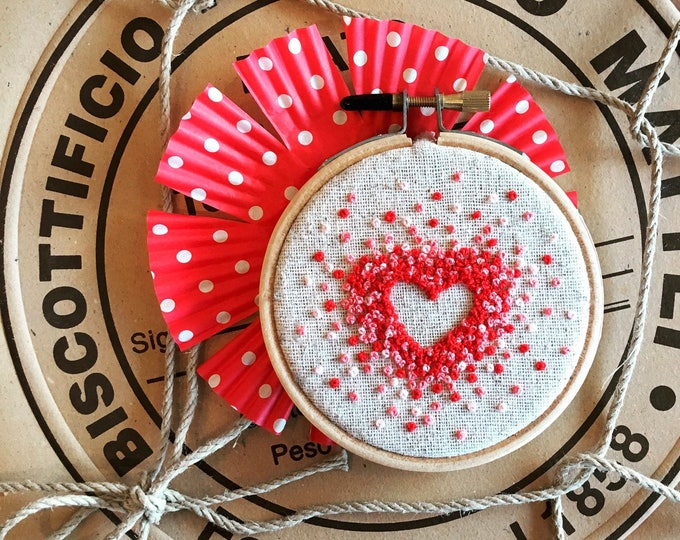 embroidery kit //For the Love of French Knots - valentines embroidery - hand embroidery - embroidery kit