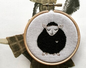 Benny Black Sheep - Hand Embroidery Kit