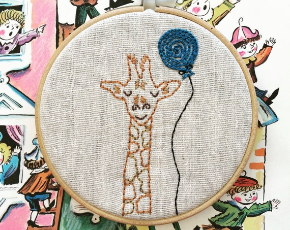 embroidery kit | hand embroidery | modern embroidery kit | DIY embroidery kit | jarrod giraffe