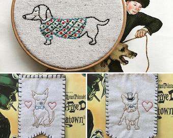 Puppy Trio Pattern- instant digital download