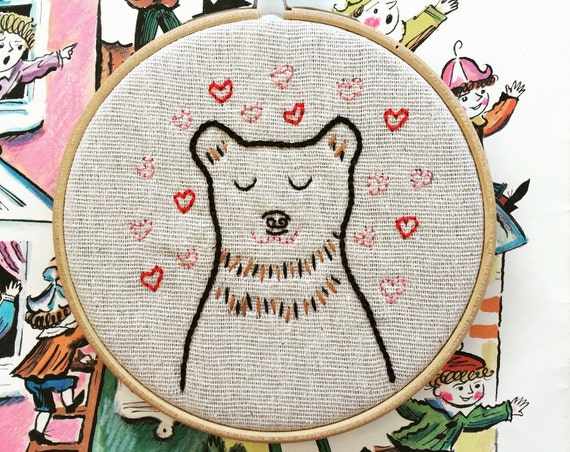 embroidery kit | hand embroidery | valentine embroidery | modern embroidery kit | DIY embroidery kit | barry charming
