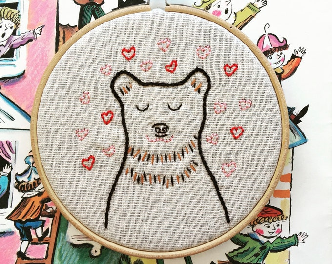 Featured listing image: Barry Charming - Hand Embroidery Kit