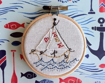 Ships a Sailing - Hand Embroidery Kit
