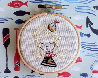 Sailor Girl - Hand Embroidery Kit