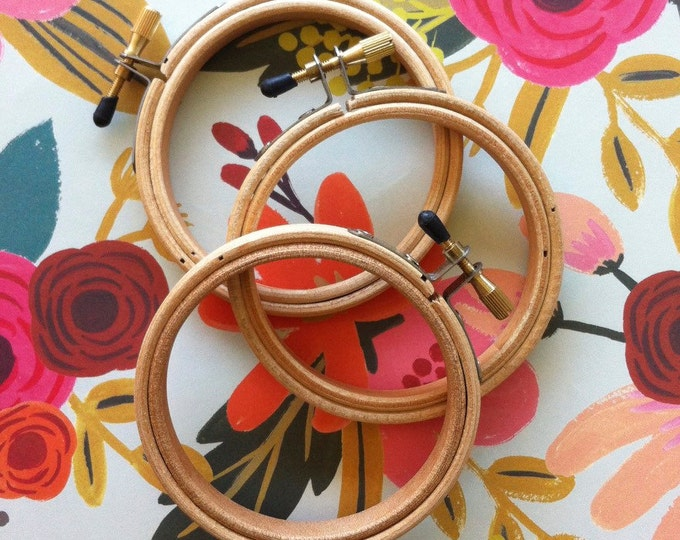 """Featured listing image: Wood Embroidery Hoops - Set of 3 - 3 """""""