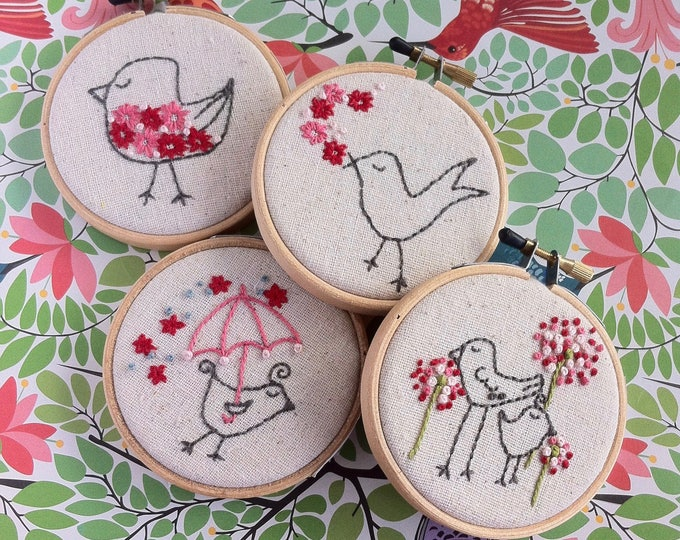 hand embroidery pattern | modern embroidery | Mega Bird - instant digital download
