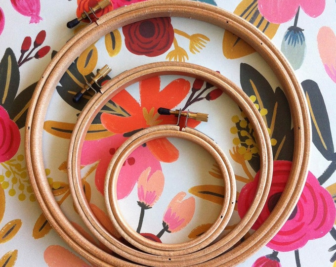 Featured listing image: Wood Embroidery Hoops   Set of 3