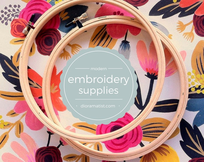 "5"" embroidery hoops - set of 2 - embroidery supply - 5"" wood hoop"
