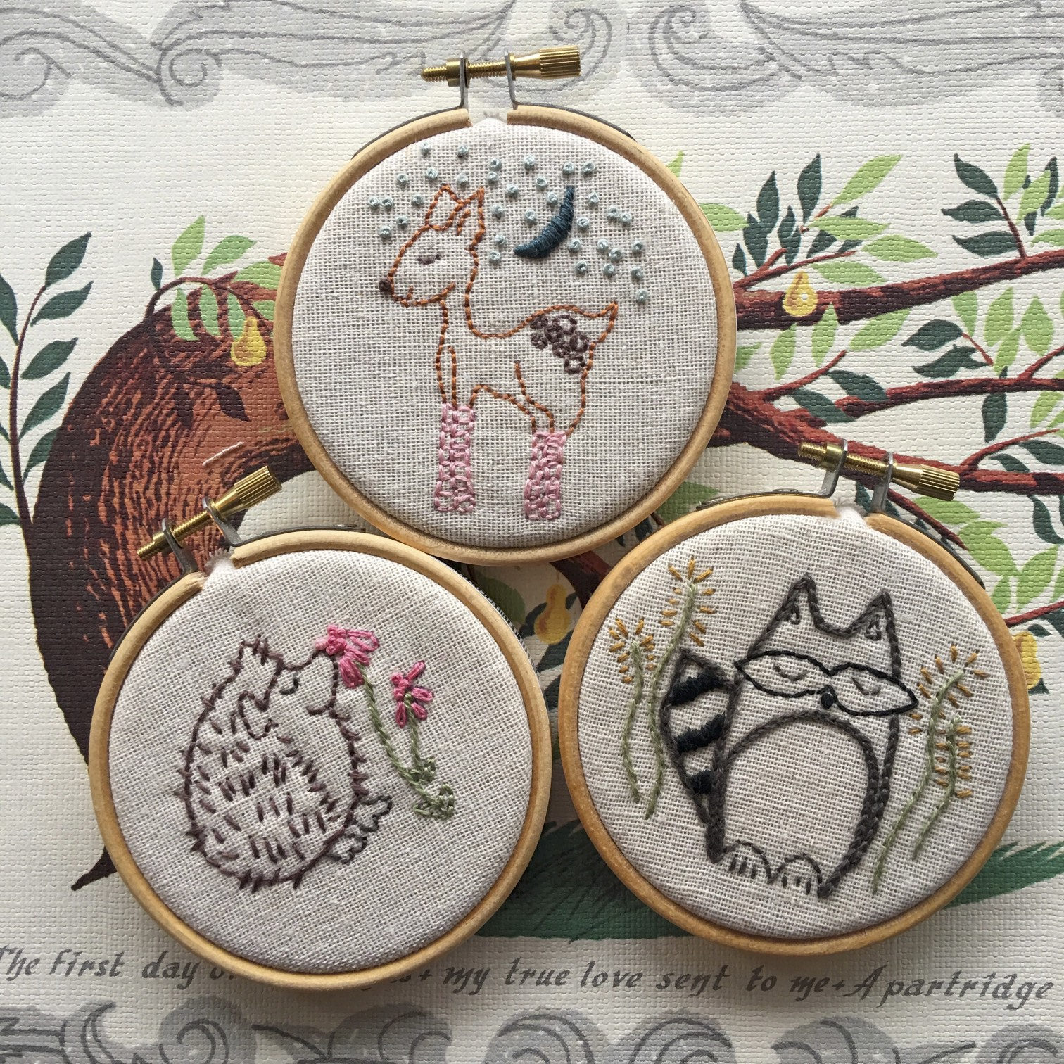 Hand Embroidery Pattern Modern Embroidery Woodland Creatures
