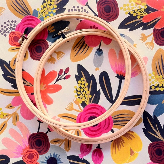 Wood Embroidery Hoops - Set of 2 - 7""