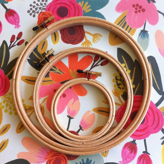 Wood Embroidery Hoops | Set of 3
