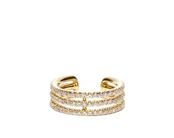 14k Gold Micro Pave Diamond Ear Cuff *Made to Order*