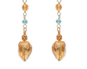 18k Pave Diamond Long Stick Earrings