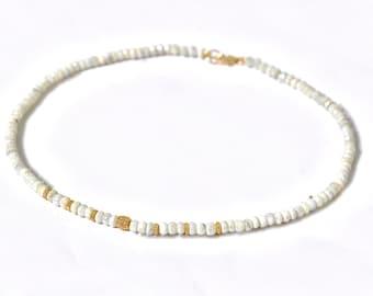 14k Pave Diamond White Sapphire Necklace