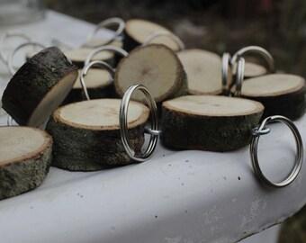 The Original - Knock on Wood Keychain, Natural Wood Keychain