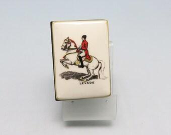 Vintage Porcelain Lippizaner Stallion Match Box